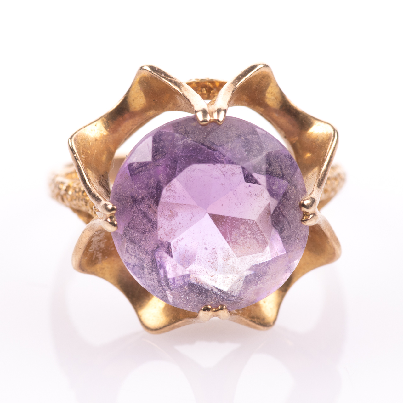 9ct Gold 6.45ct Amethyst Ring London 1974 - Image 3 of 8