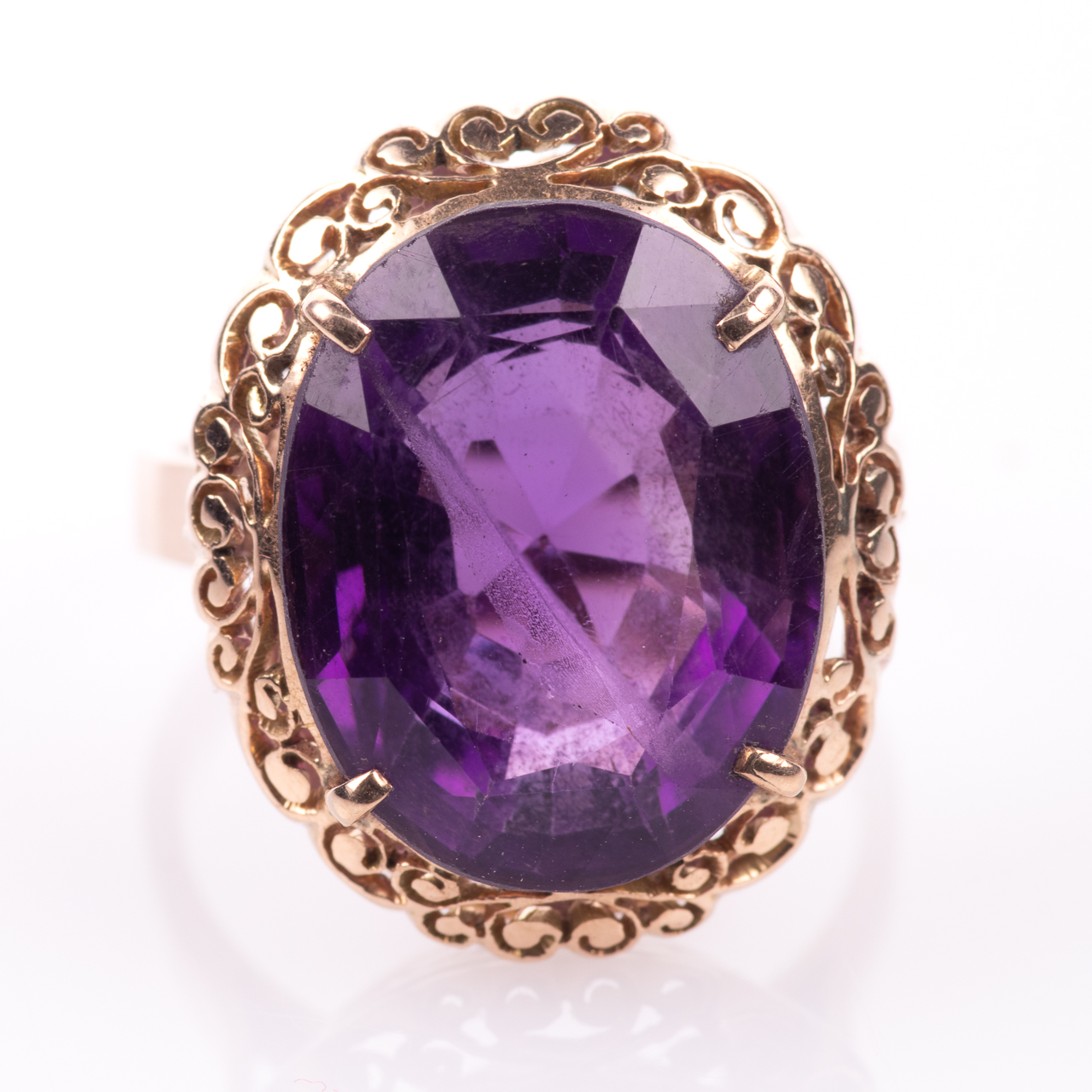 14ct Gold Amethyst Ring - Image 3 of 7