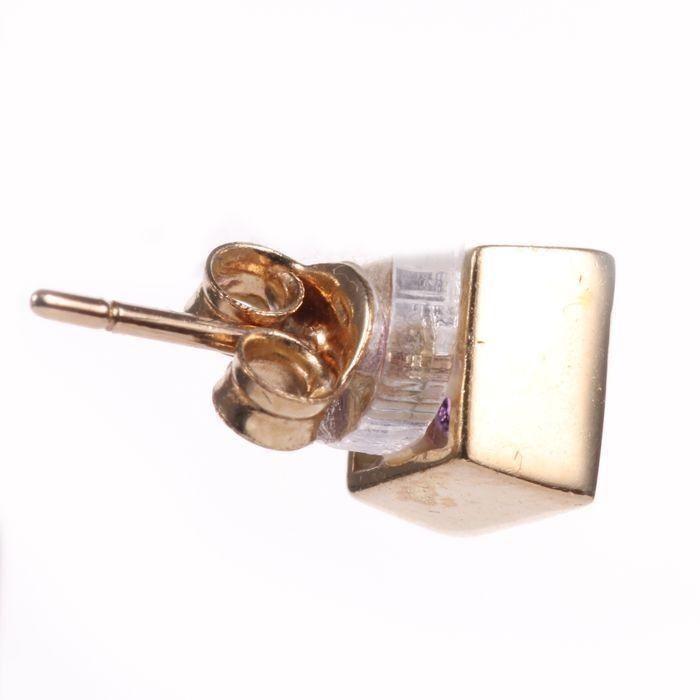 9ct Gold Amethyst Earrings - Image 3 of 3