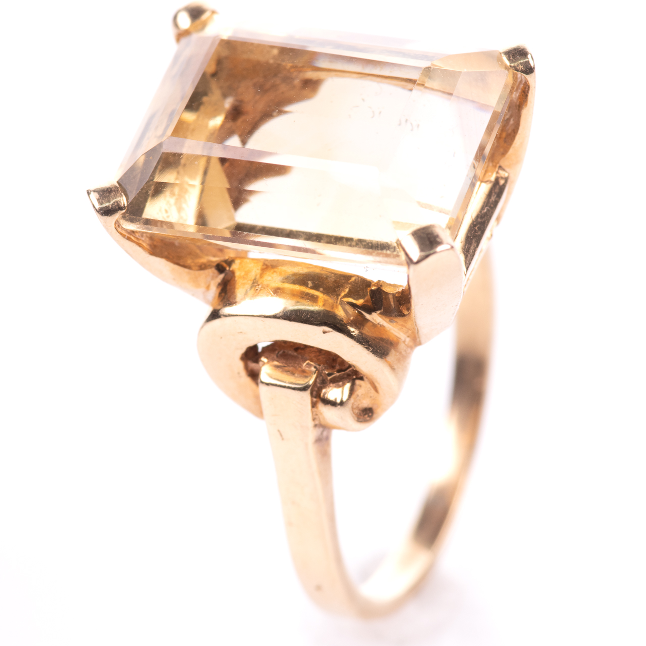 14ct Gold 15ct Citrine Ring