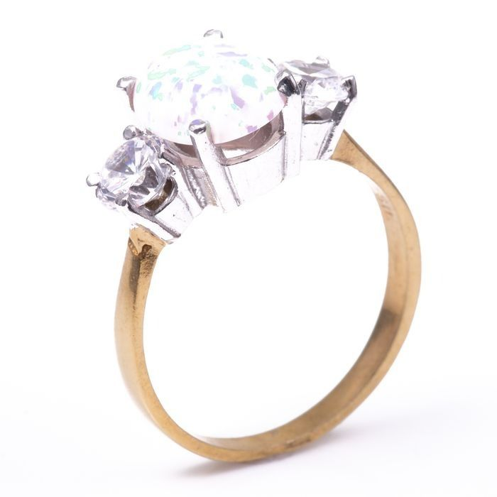 Opal & Paste Gilded Ring - Image 5 of 5
