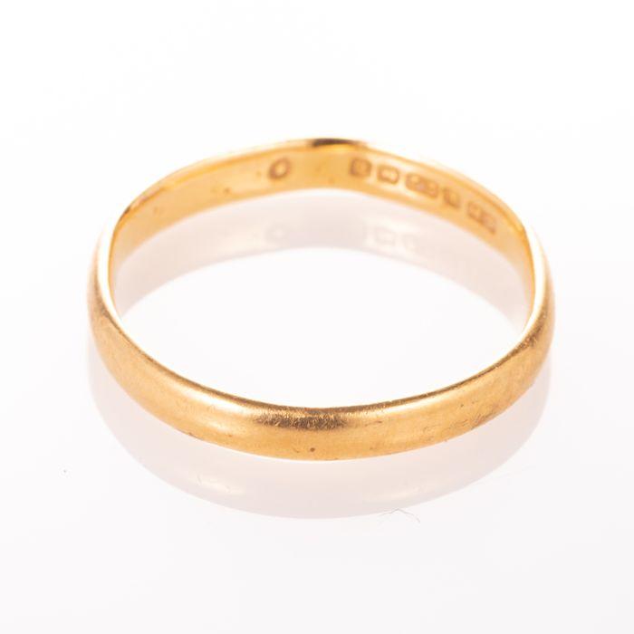 22ct Gold Wedding Band Ring Birmingham 1951 - Image 3 of 6