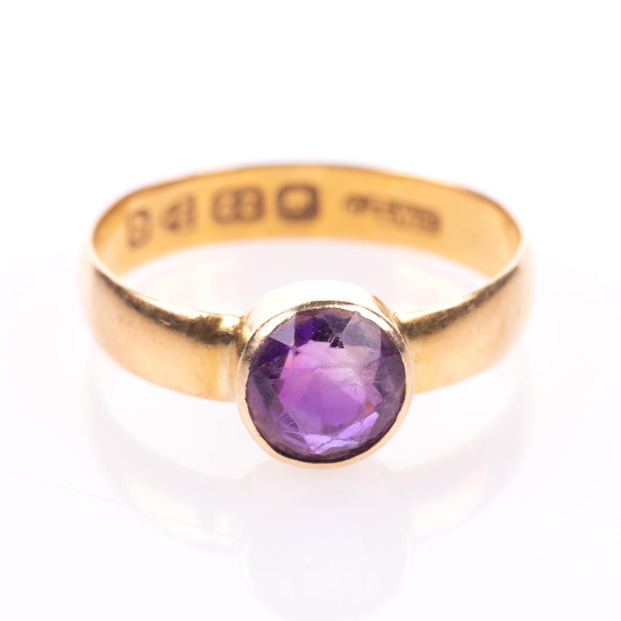 22ct Gold Victorian Amethyst Ring Chester 1899, Howard & Walsh - Image 3 of 7