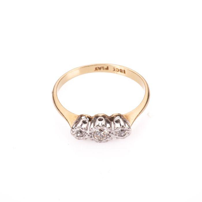 18ct Gold & Platinum Diamond Ring - Image 3 of 7