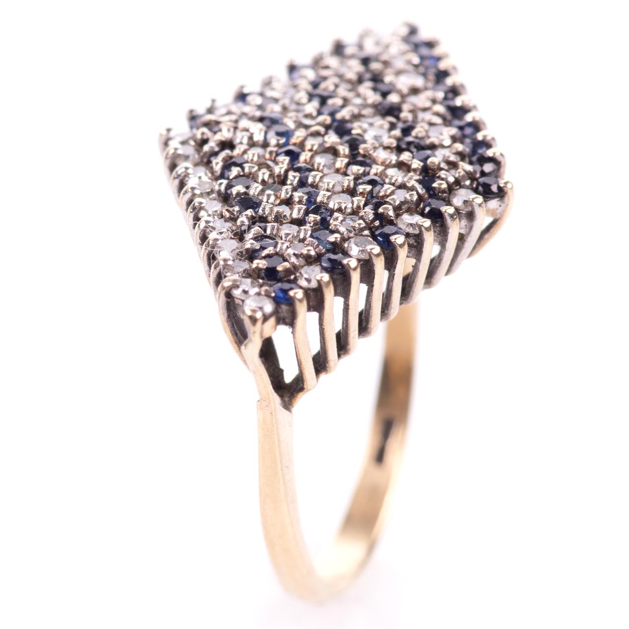 9ct Gold Sapphire & 0.50ct Diamond Ring Sheffield 1979