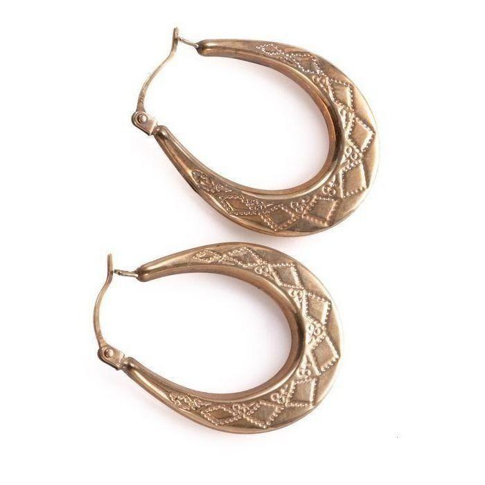 9ct Gold Italian Creole Earrings