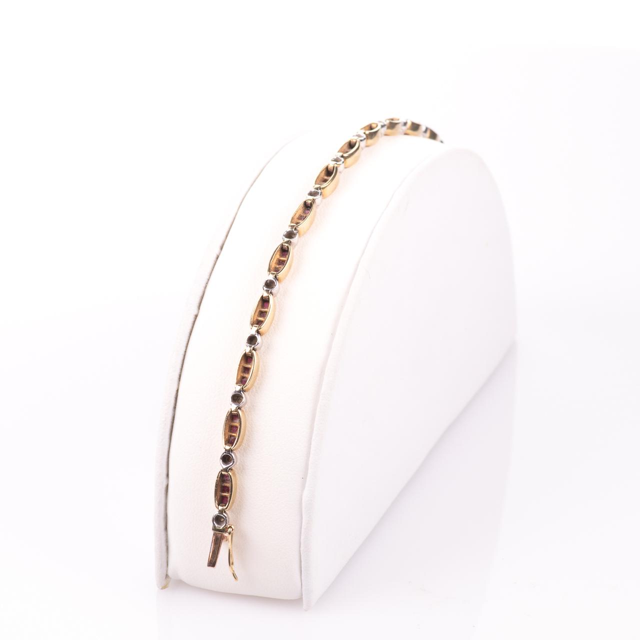 9ct Gold 2ct Ruby & Diamond Tennis Bracelet - Image 6 of 6