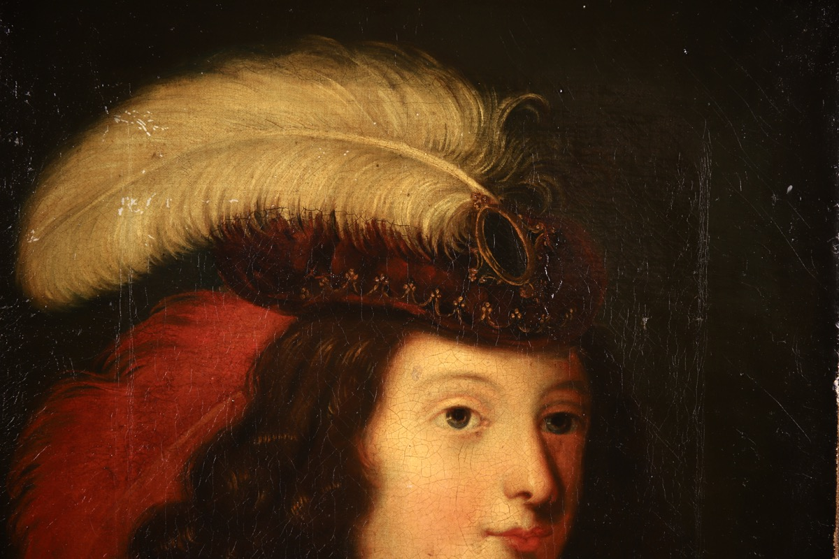 XVII French Old Master Portrait (ca 1660) - Image 2 of 11