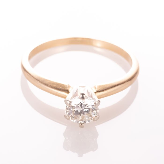 14ct Gold 0.50ct Diamond Solitaire Ring - Image 7 of 7