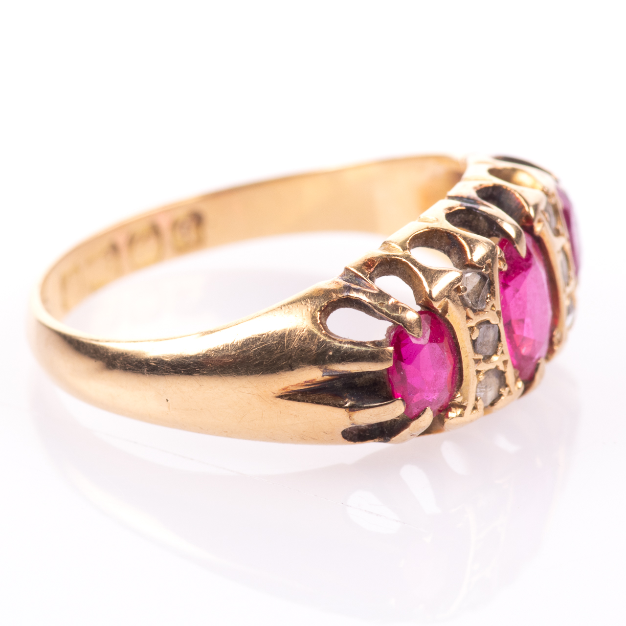 18ct Gold 1.20ct Ruby & Diamond Ring Birmingham 1915 - Image 7 of 7