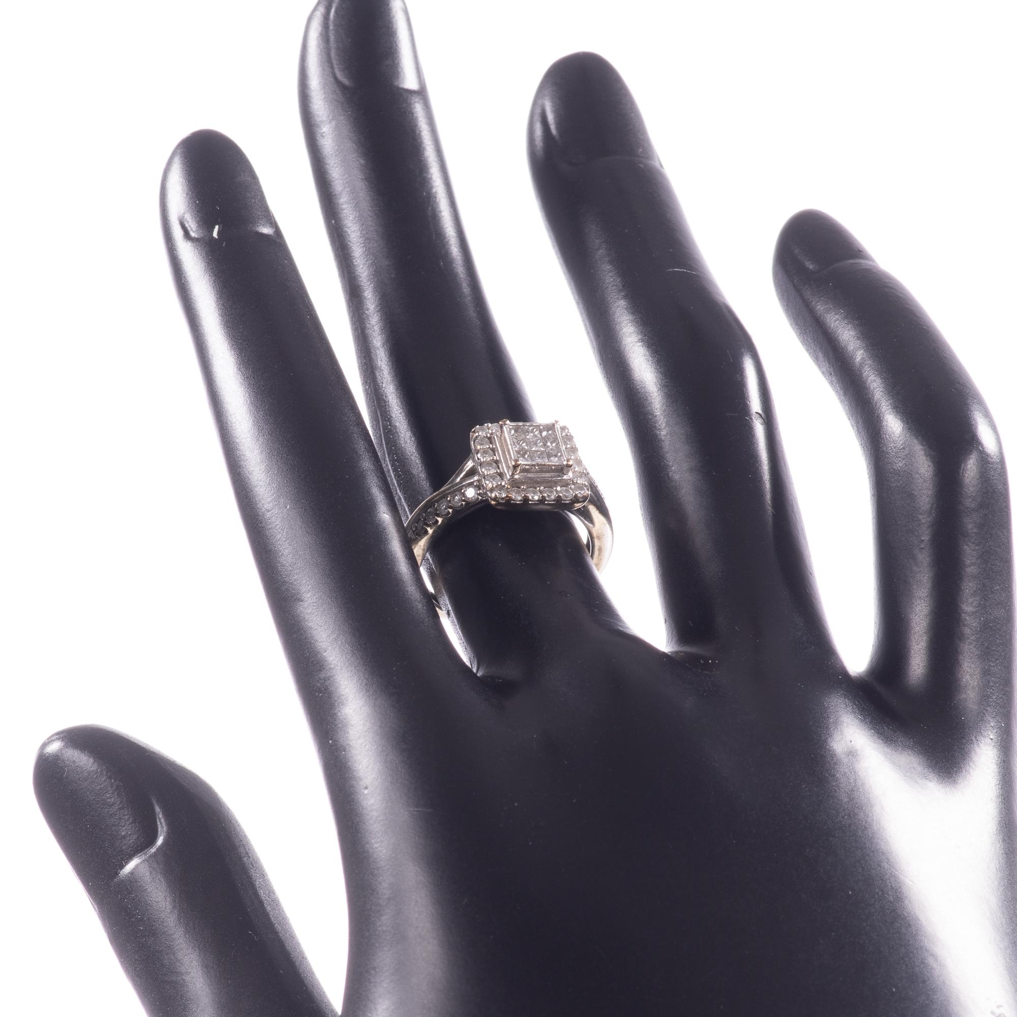 9ct White Gold 0.40ct Diamond Ring - Image 2 of 6