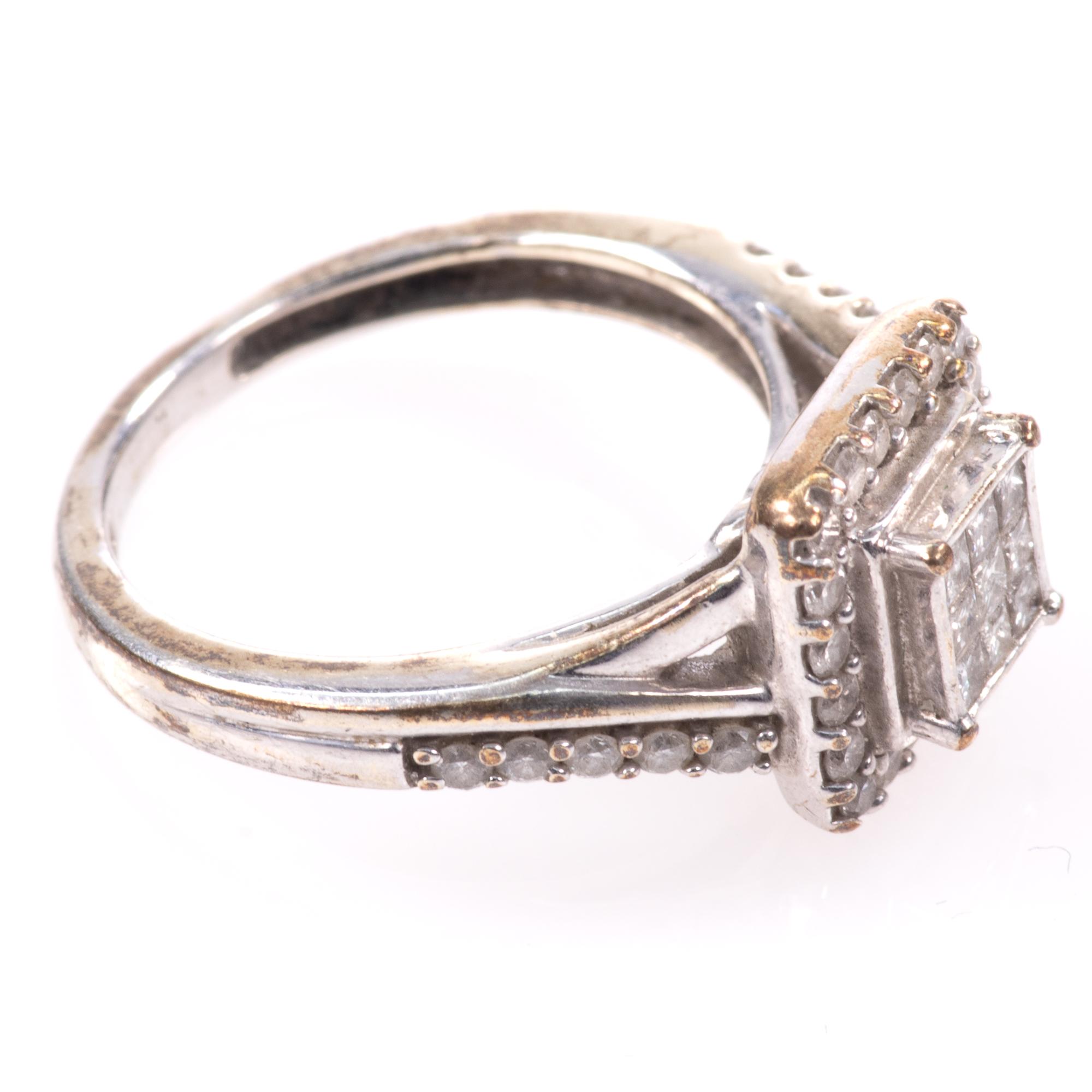 9ct White Gold 0.40ct Diamond Ring - Image 6 of 6