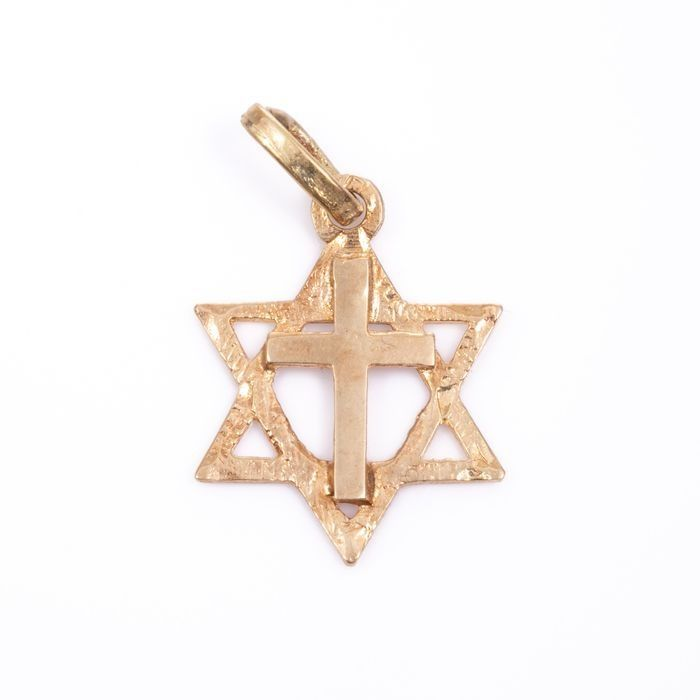 14ct Gold Pendant Charm Star of David