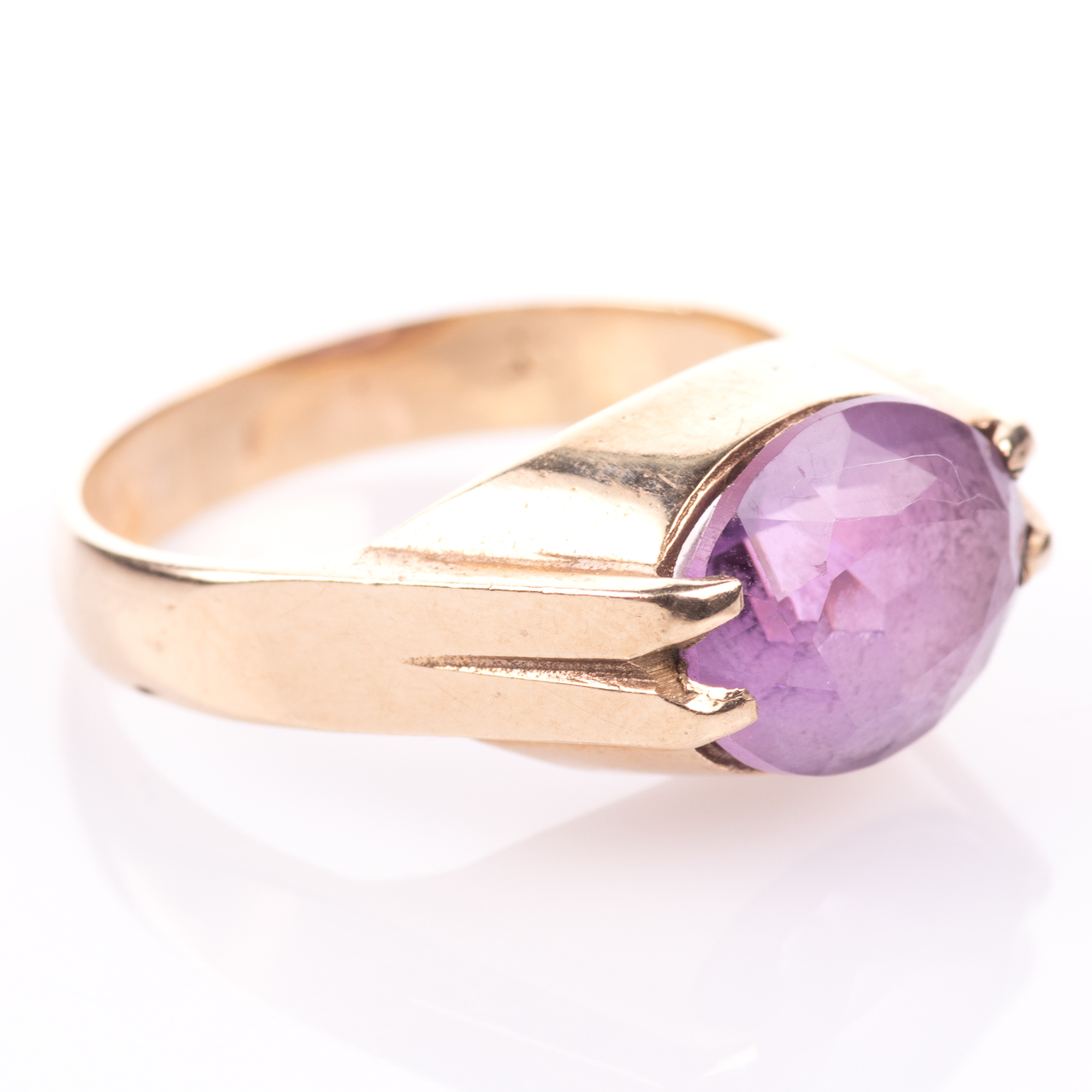 9ct Gold 3.20ct Amethyst Ring - Image 7 of 7