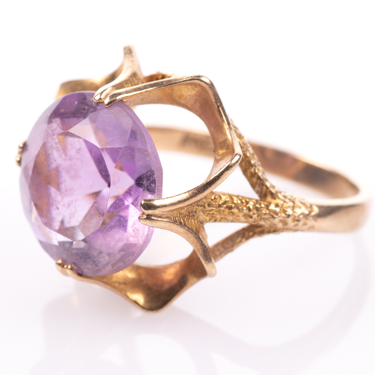 9ct Gold 6.45ct Amethyst Ring London 1974 - Image 4 of 8