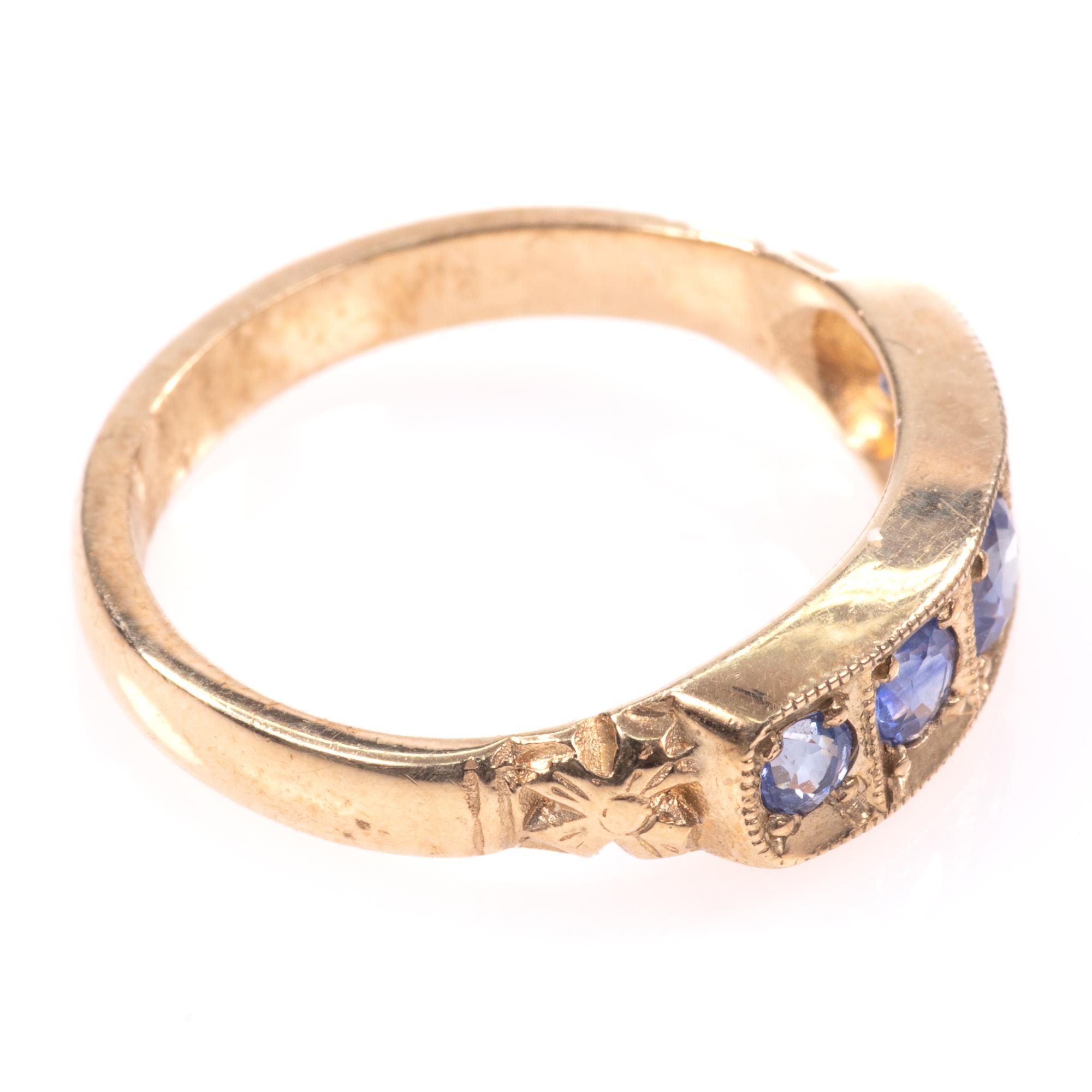 9ct Gold Aquamarine Ring - Image 8 of 8