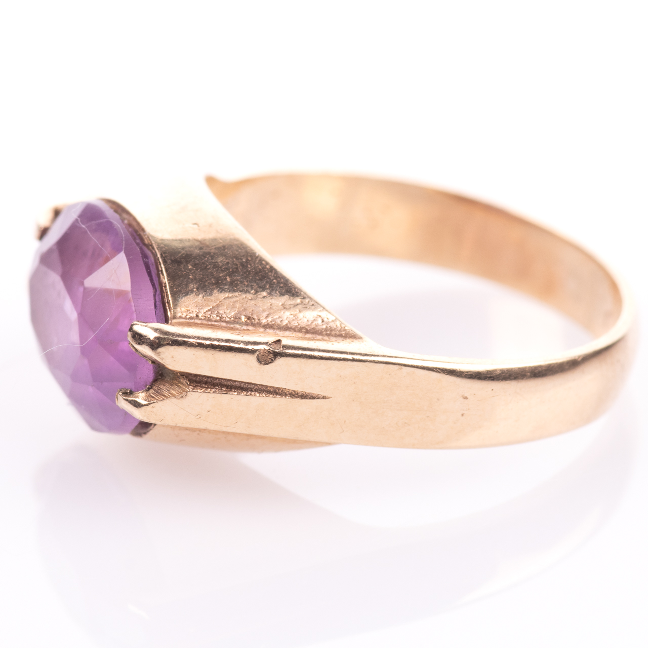 9ct Gold 3.20ct Amethyst Ring - Image 4 of 7