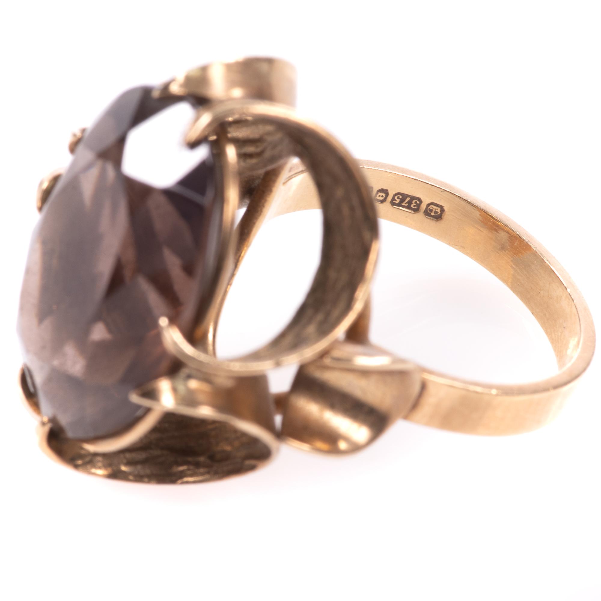 9ct Gold 12.75ct Smoky Quartz Ring - Image 7 of 7