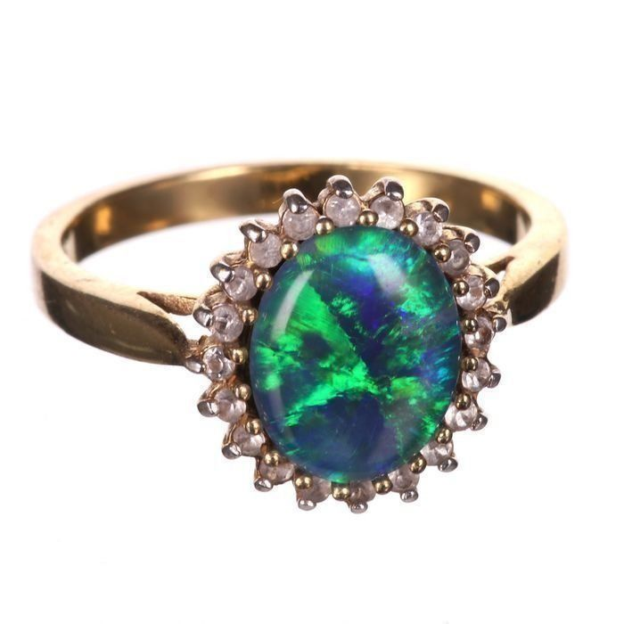 Gilt Black Opal Ring - Image 6 of 6