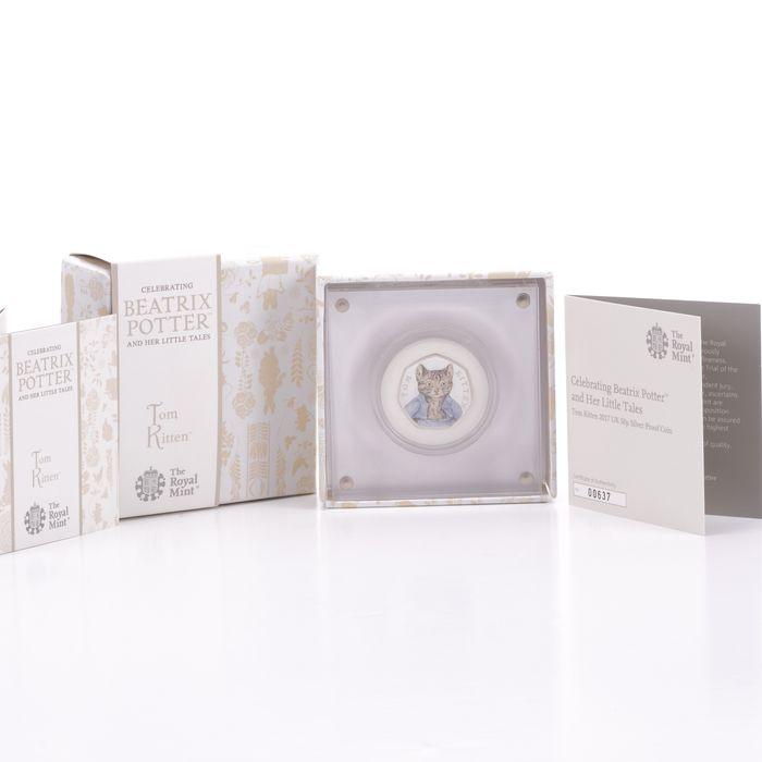 UK 50 Pence Silver Coin Beatrix Potter - Tom Kitten