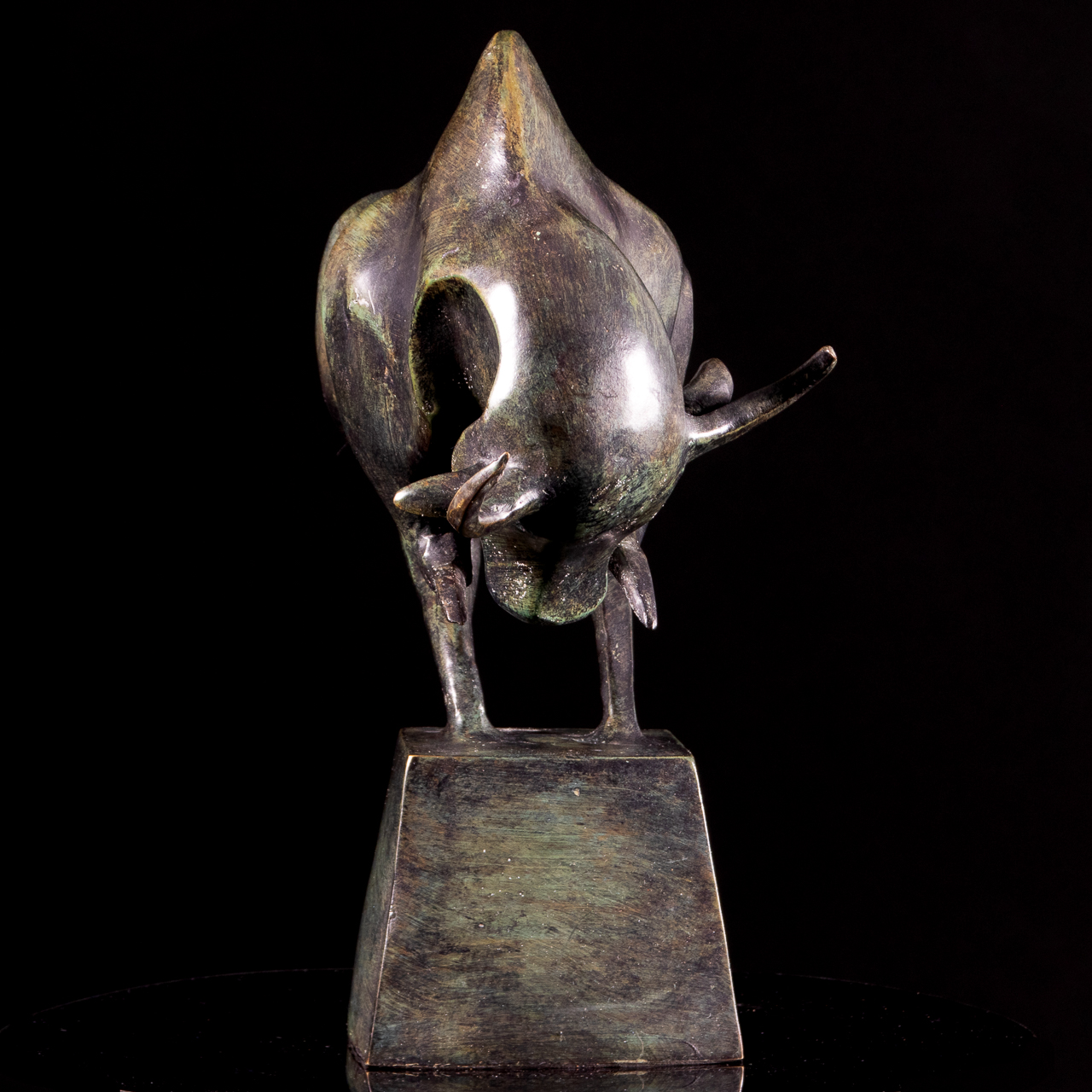 Bronze Abstract-Contemporary Bull Sculpture - Image 7 of 7