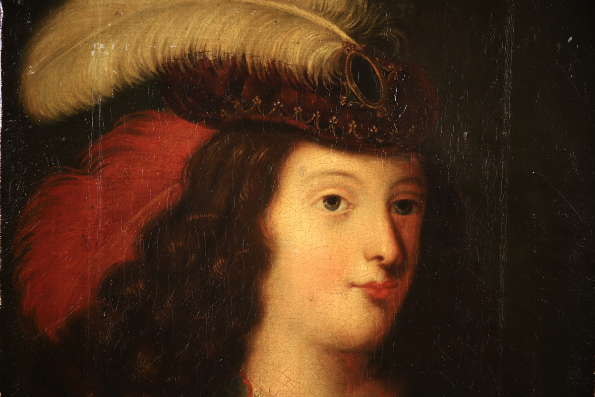 XVII French Old Master Portrait (ca 1660) - Image 3 of 11