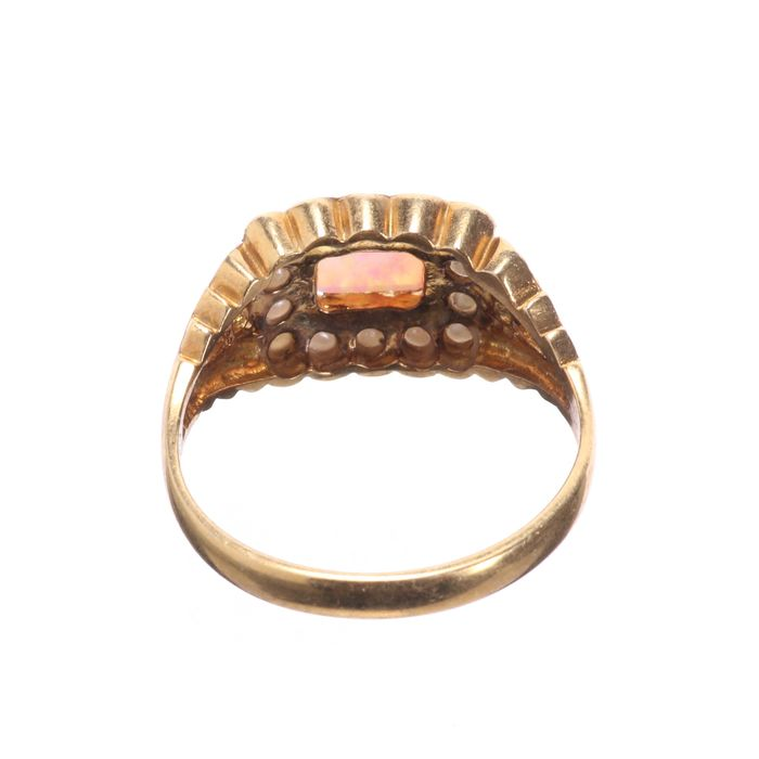 Gilt Opal & Pearl Ring - Image 5 of 6