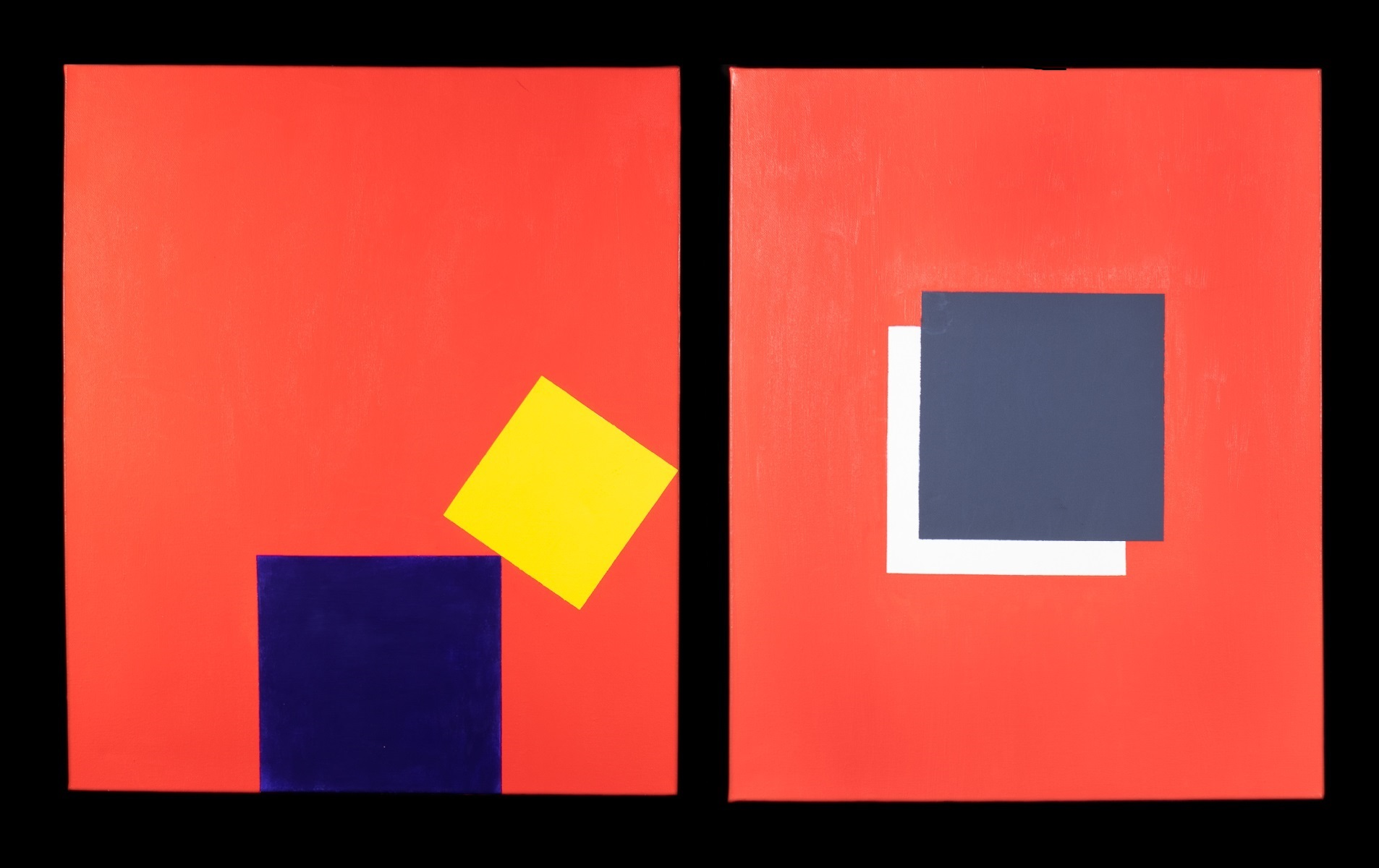 Pair of Contemporary Abstract Paintings Jacob Lloyds