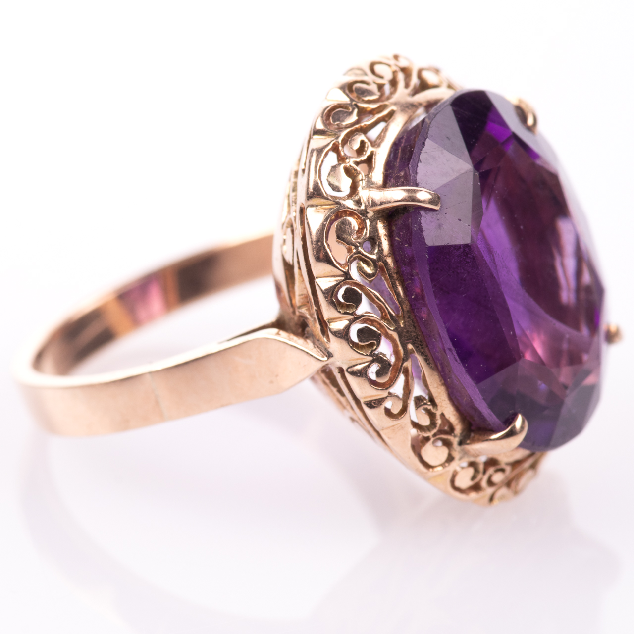 14ct Gold Amethyst Ring - Image 7 of 7
