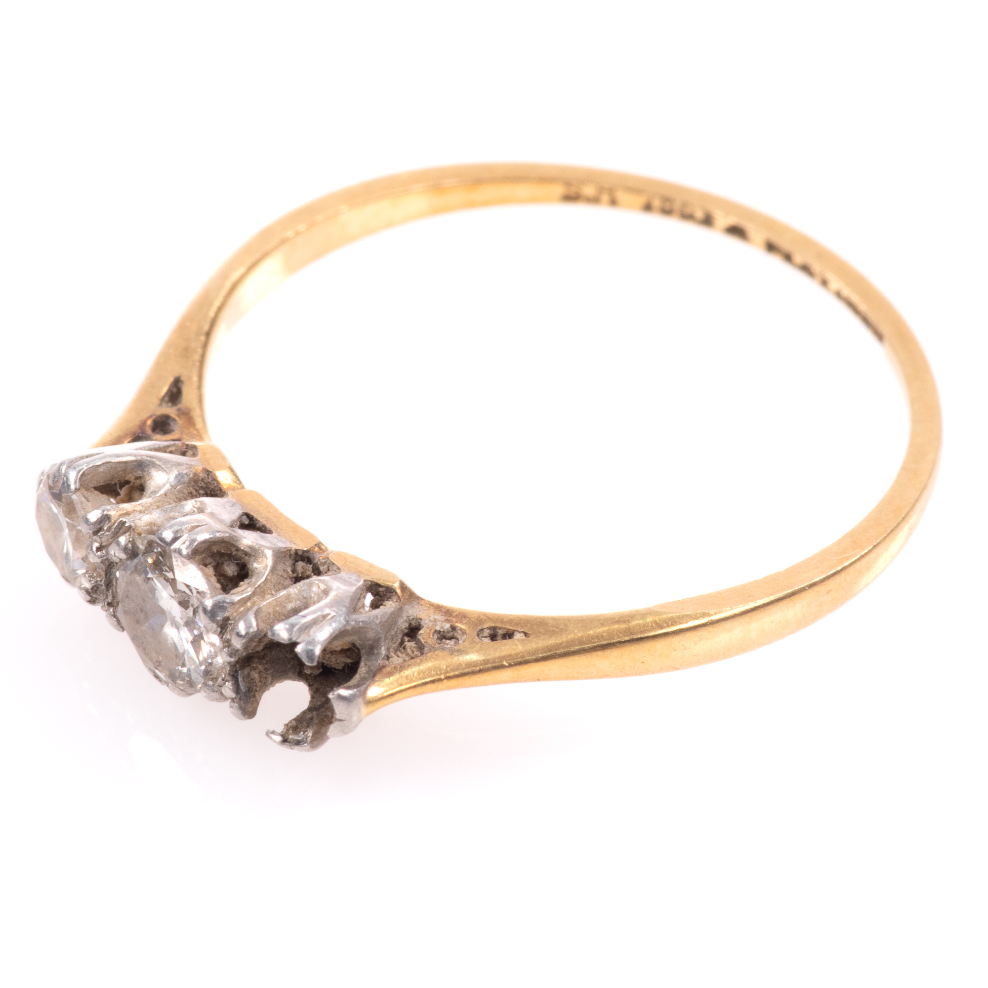 18ct Gold & Platinum 0.40ct Diamond Ring - Image 5 of 8