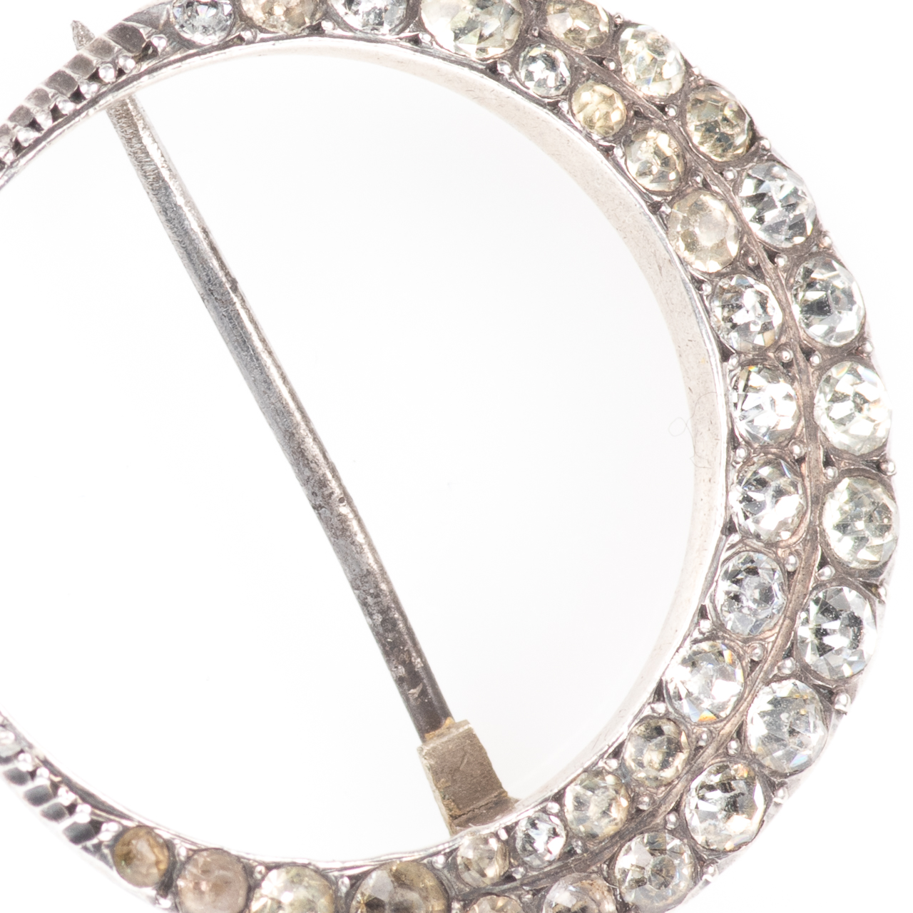 Victorian 900 Silver Paste Crescent Moon Brooch - Image 2 of 5