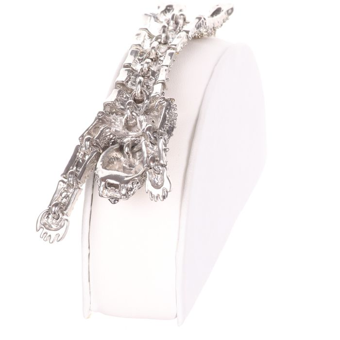 Cartier Style Articulated Panther Enamel Bracelet - Image 3 of 5