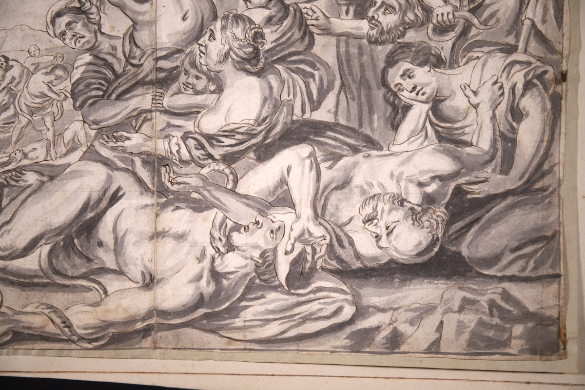 XVIII Ink & Wash French Old Master Drawing - Image 7 of 8