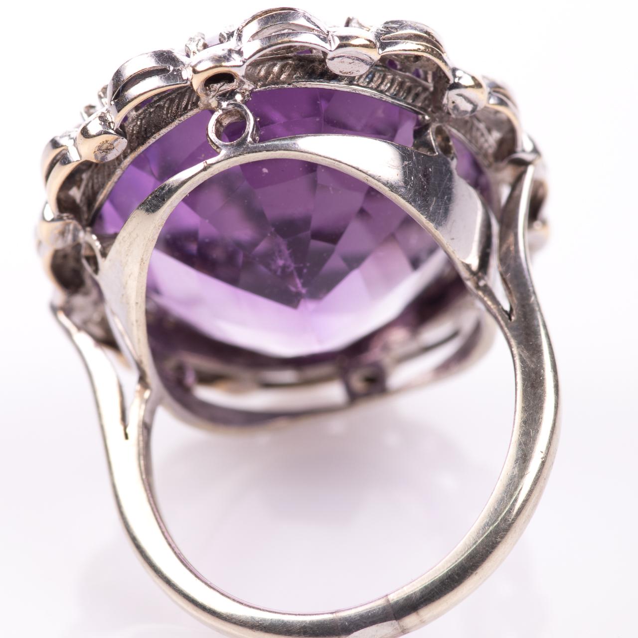 30ct Amethyst & Diamond Ring - Image 5 of 6