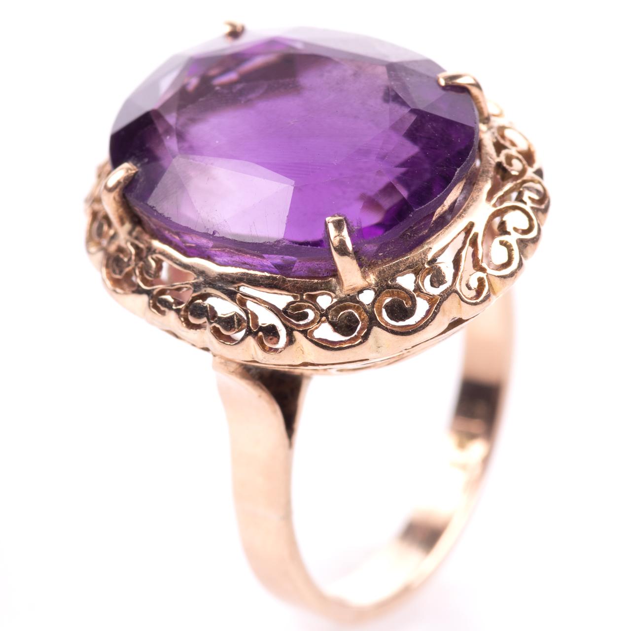 14ct Gold Amethyst Ring