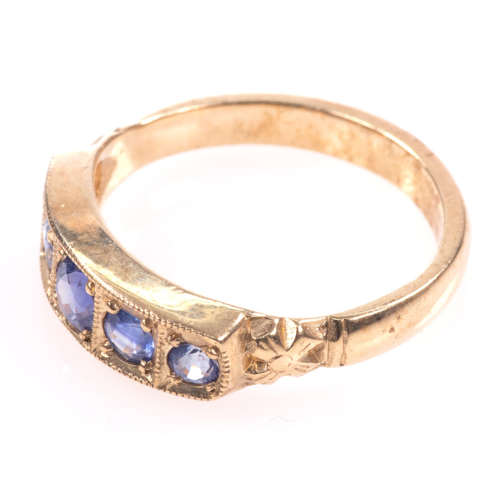 9ct Gold Aquamarine Ring - Image 4 of 8