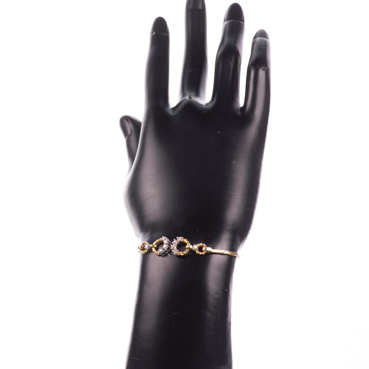 18ct Gold 0.30ct Diamond Bracelet - Image 2 of 6