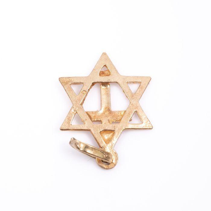 14ct Gold Pendant Charm Star of David - Image 2 of 2