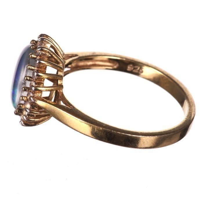 Gilt Black Opal Ring - Image 4 of 6