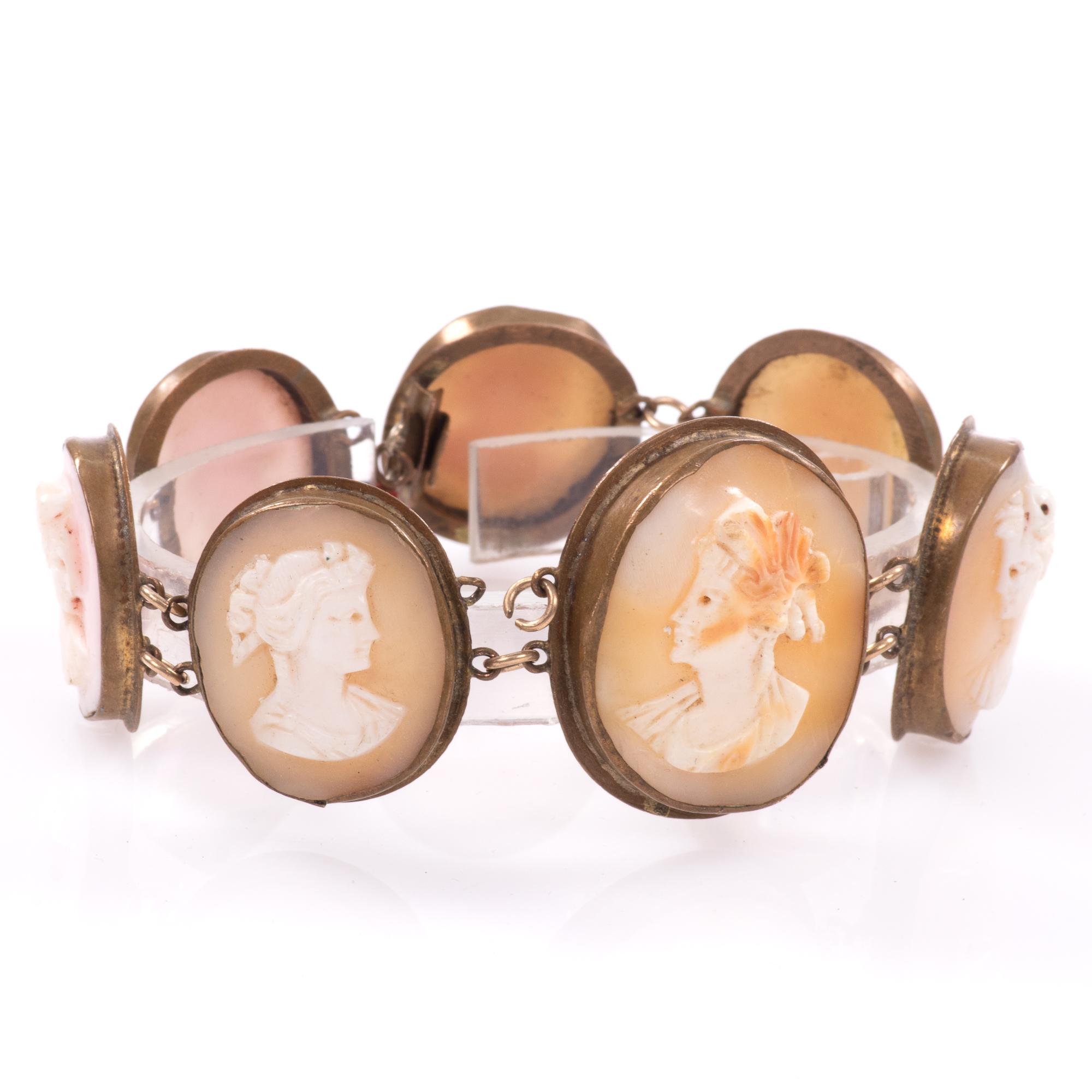 Victorian Pinchbeck Cameo Bracelet