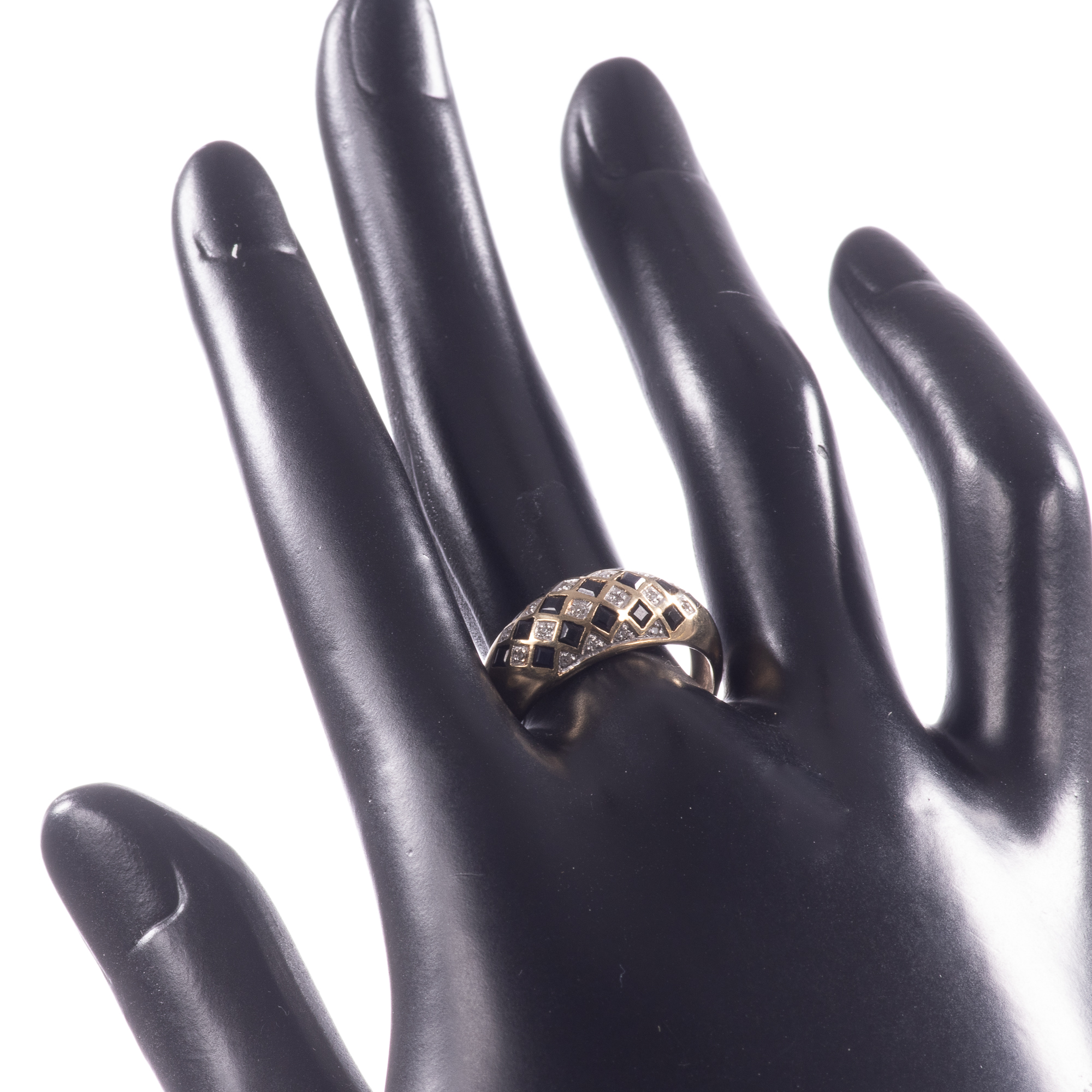 9ct Gold Art Deco Style 0.68ct Sapphire & Diamond Ring - Image 2 of 8