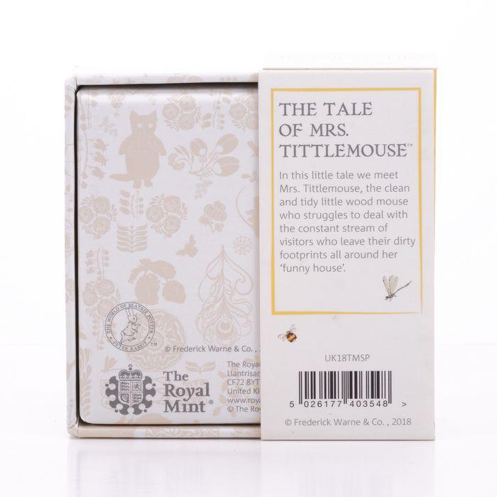 UK 50 Pence Silver Coin Beatrix Potter - Mrs Tittlemouse - Image 6 of 6