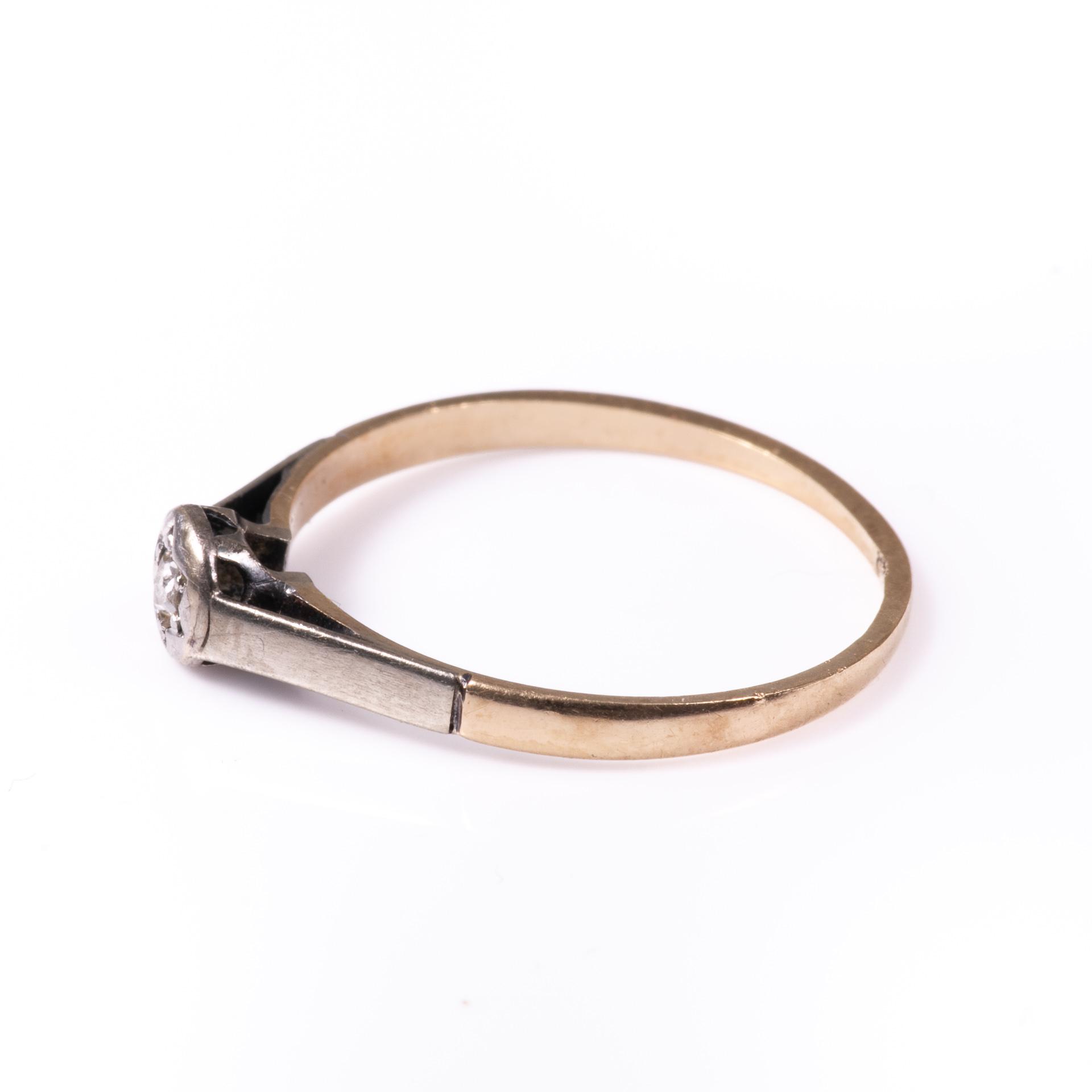 18ct Gold & Platinum Rose Cut Diamond Ring - Image 4 of 7