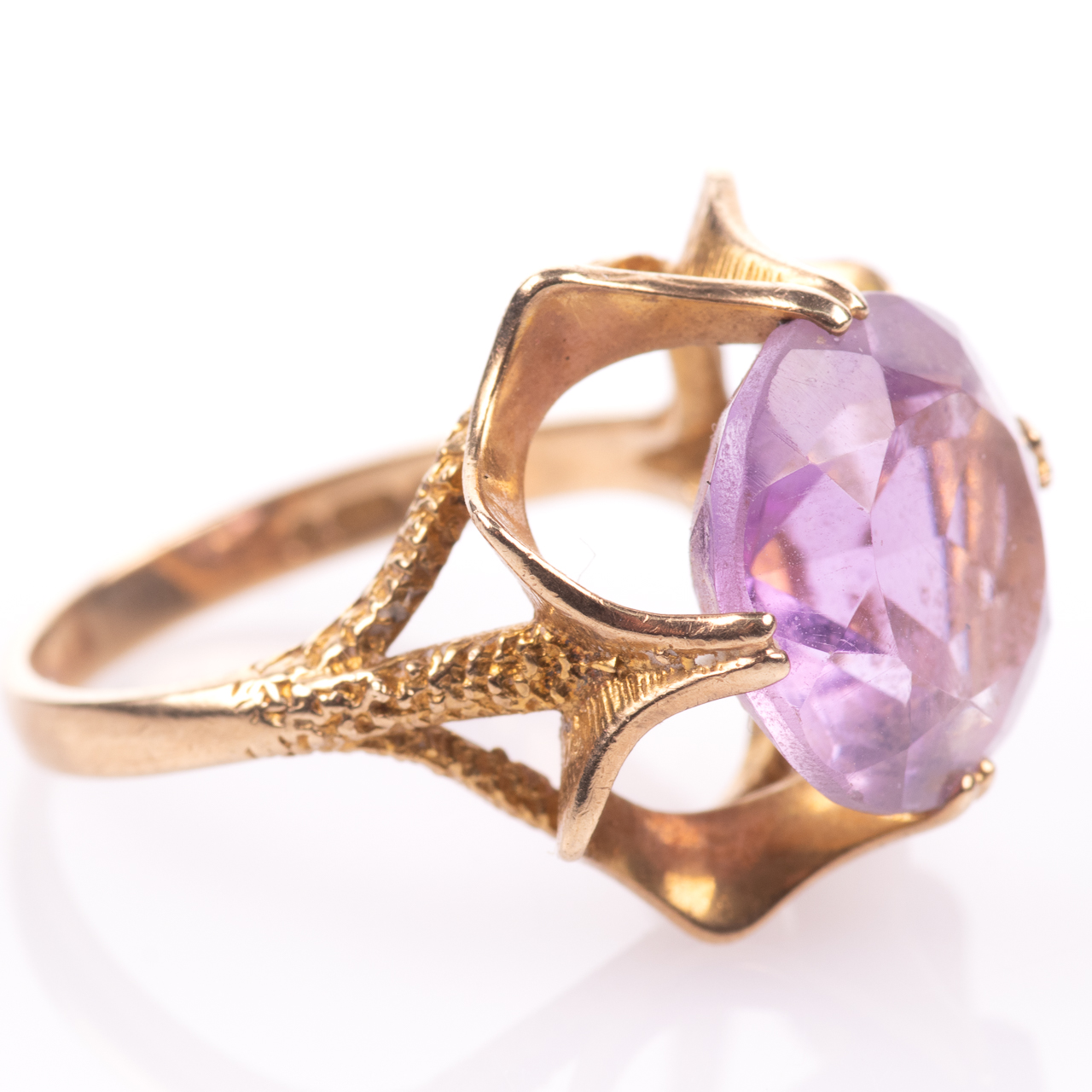 9ct Gold 6.45ct Amethyst Ring London 1974 - Image 7 of 8