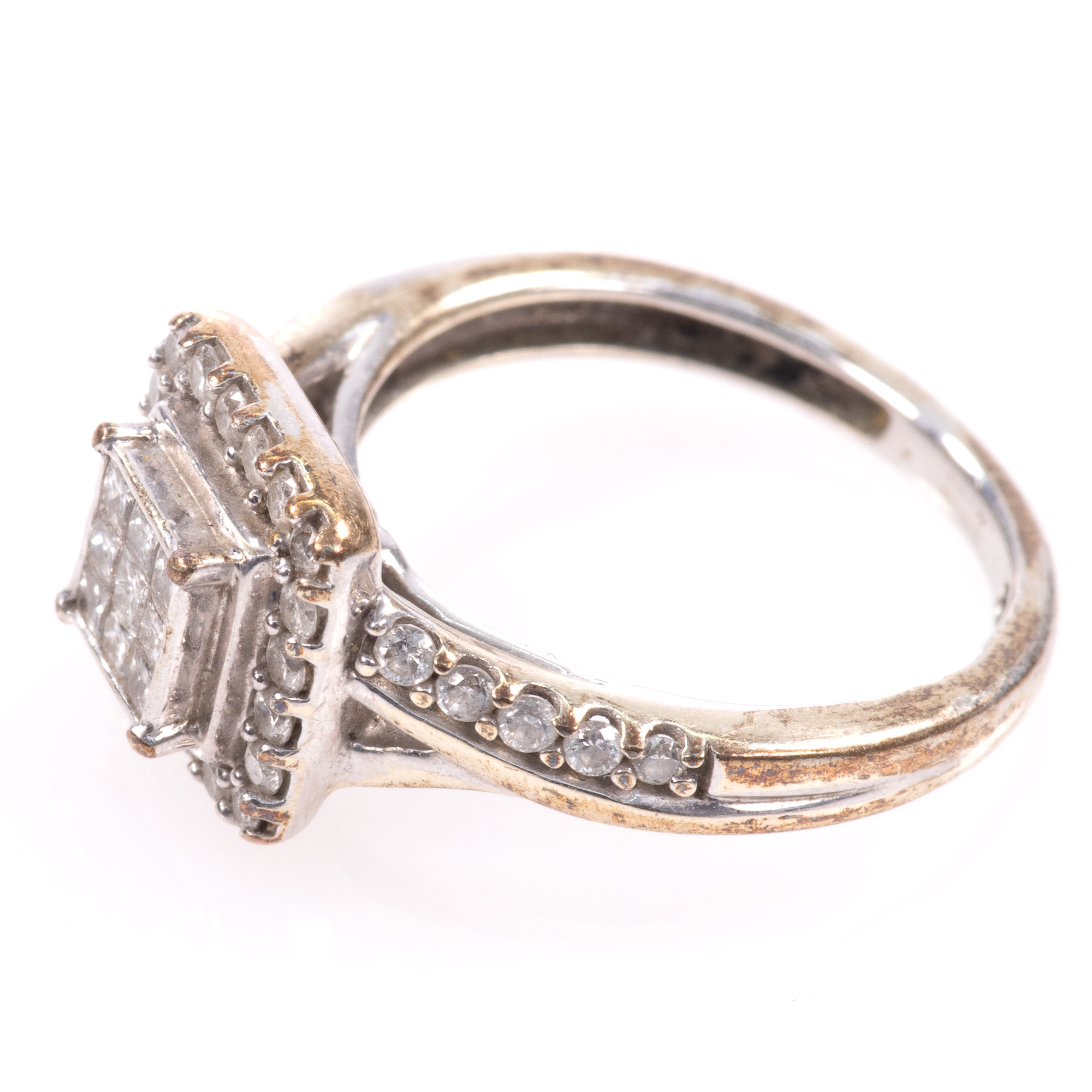 9ct White Gold 0.40ct Diamond Ring - Image 4 of 6