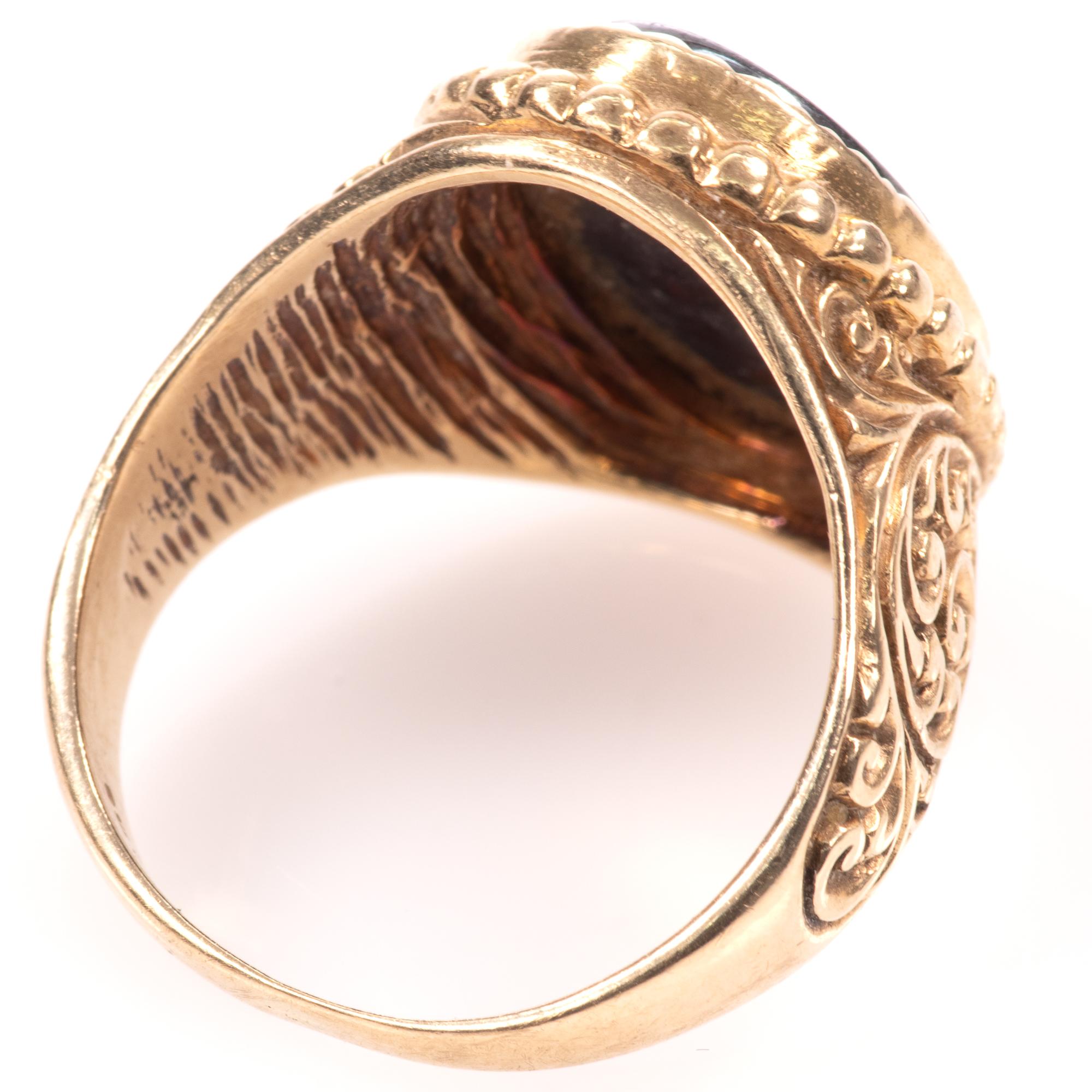 9ct Gold Centurion Onyx Signet Ring - Image 5 of 7
