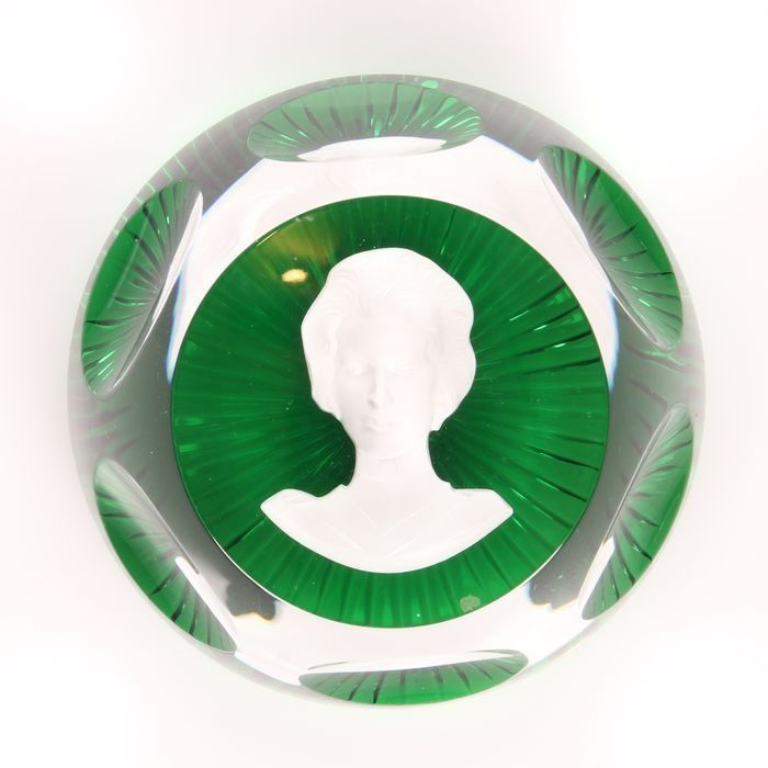 Princess Anne Paperweight Baccarat Glass