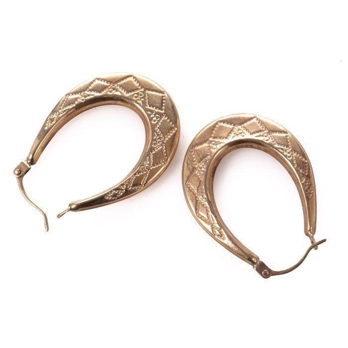 9ct Gold Italian Creole Earrings - Image 4 of 4