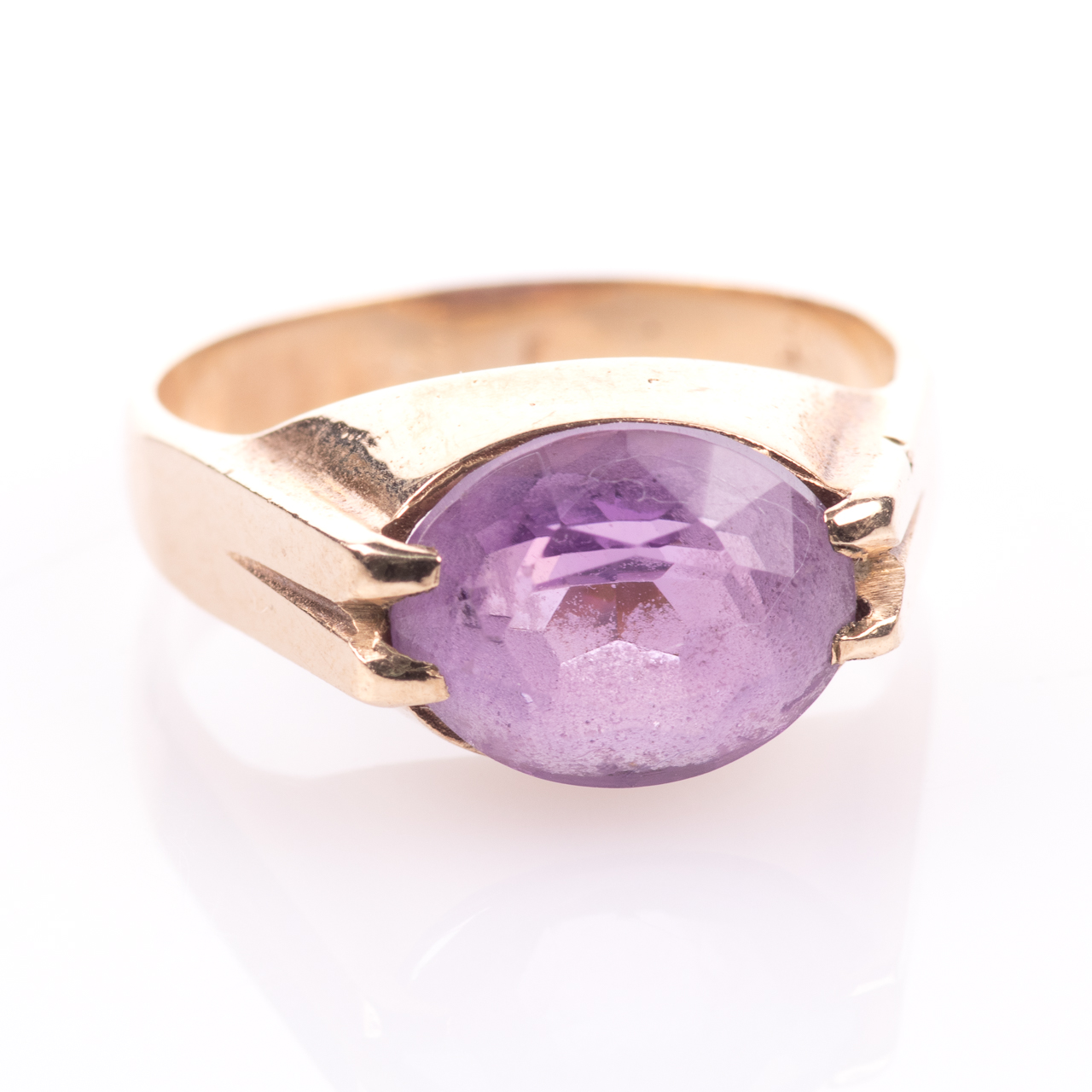 9ct Gold 3.20ct Amethyst Ring - Image 3 of 7