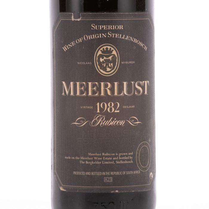 Meerlust 1982 Wine - Cabernet Sauvignon - 1 Bottle (0.75L) - Image 3 of 5
